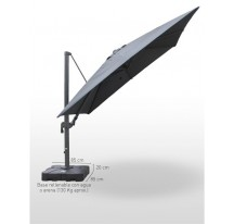 Parasol Aluminio Deluxe 3x3