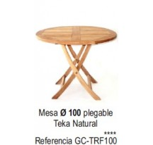 Mesa Plegable Teka Natural