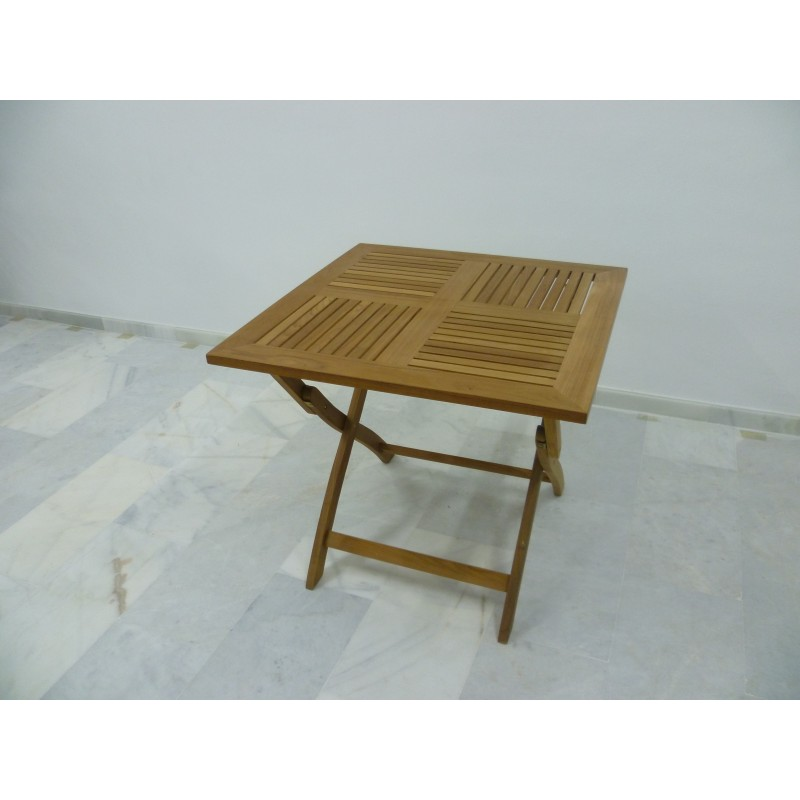 Mesa de teca plegable de gran calidad muy resistente - Mesa plegable exterior ...