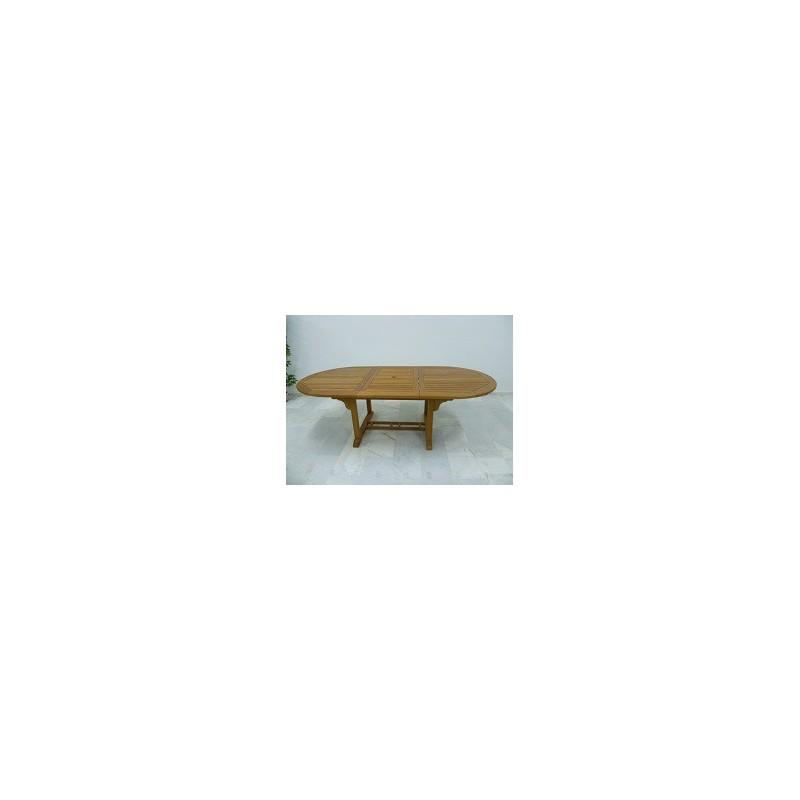 Mesa oval de teca de gran calidad muy resistente - Mesas de teca exterior ...