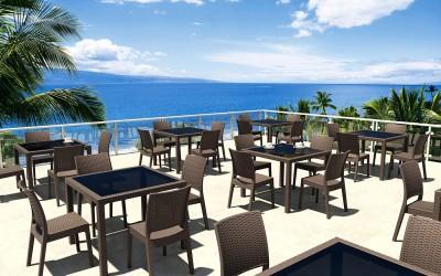 Mesas Bali con sillas Florida