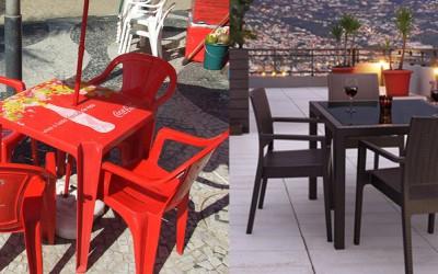 En San Valentin lleva a tu pareja a un restaurante sin publicidad en sillas y mesas POR FAVOR !!
