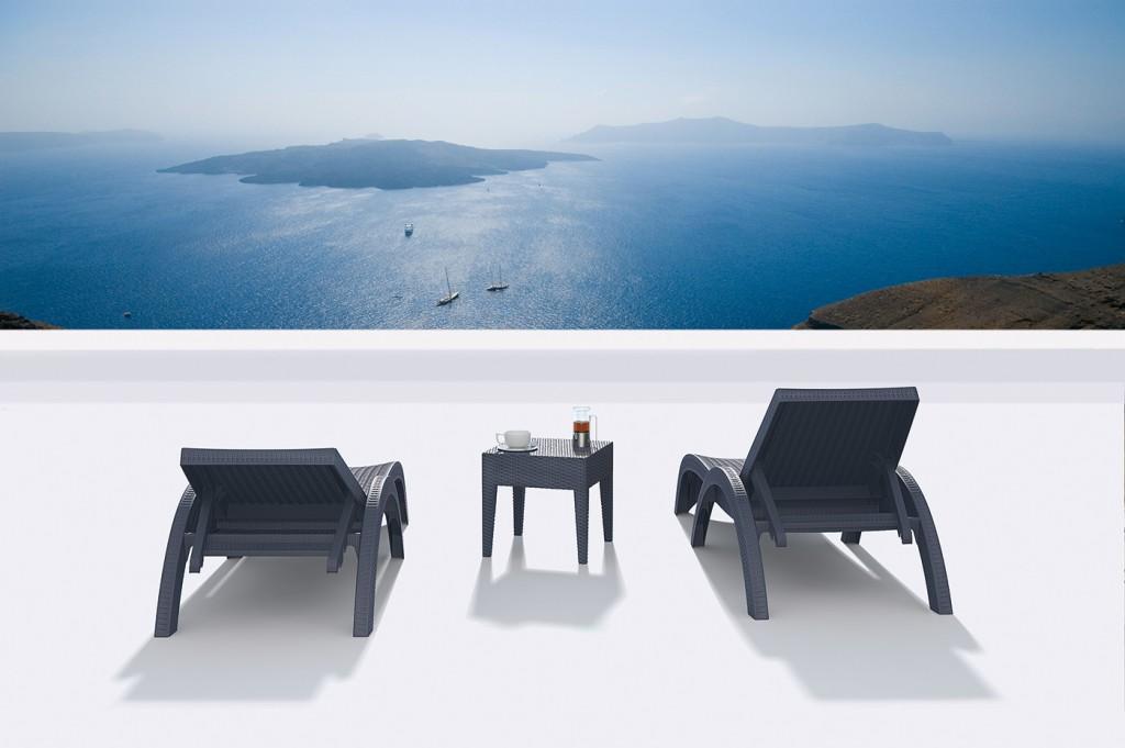 Sillón Ibiza y mesa Miami Lounge
